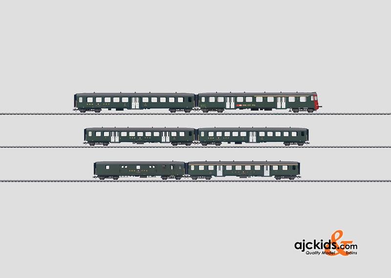 画像1: 鉄道模型 メルクリン Marklin 43389 SBB 軽量シャトル列車セット 客車 HOゲージ