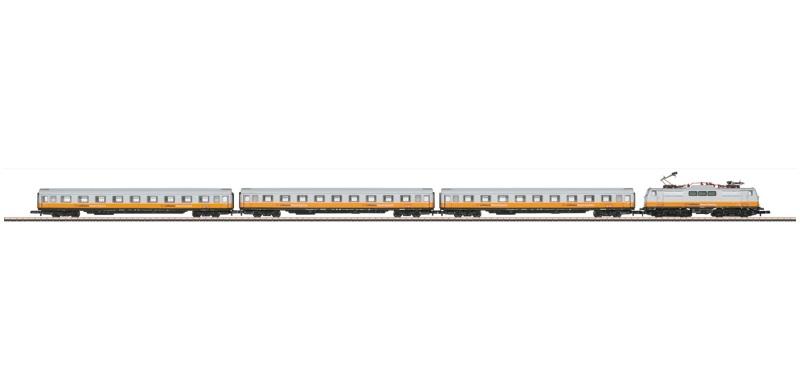 画像1: 鉄道模型 メルクリン Marklin 81551 ミニクラブ mini-club ルフトハンザ エアポートエクスプレス 列車セット Zゲージ