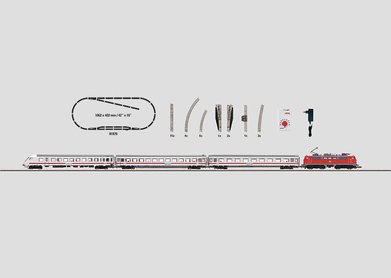 画像1: 鉄道模型 メルクリン Marklin 81870 ミニクラブ mini-club Intercity 列車 スターターセット Zゲージ