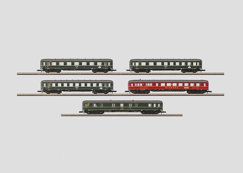 画像1: 鉄道模型 メルクリン Marklin 87105 ミニクラブ mini-club ベルリン-ハンブルグ 客車5両セット Zゲージ