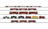 鉄道模型 メルクリン Marklin 82499 Display w/18 アメリカ型貨物列車セット Zゲージ