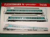 鉄道模型 フライシュマン Fleischmann 7438 DB BR614 ディーゼルカー 2両セット Nゲージ