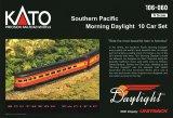 鉄道模型 カトー KATO 106-060 Southern Pacific サザン・パシフィック Morning Daylight モーニング・デイライト 客車10両 Nゲージ