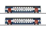 鉄道模型 メルクリン Marklin 43574 SBB 2階建て客車 2両セット HOゲージ