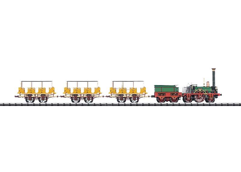 画像1: 鉄道模型 トリックス Trix 21236 Historic Adler Passenger Train. 蒸気機関車 アドラー号 HOゲージ