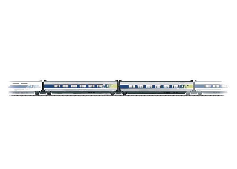 画像1: 鉄道模型 トリックス Trix 23438 増結セット1 TGV POS TGV POS HOゲージ