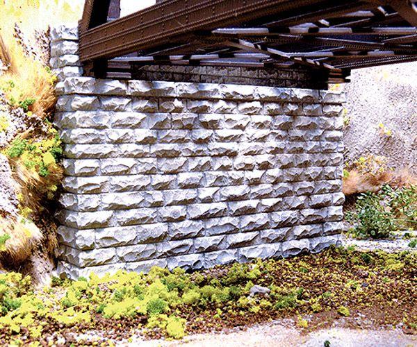 画像1: 鉄道模型 ウォルサーズ Walthers 214-9850 石積み橋台 Nゲージ