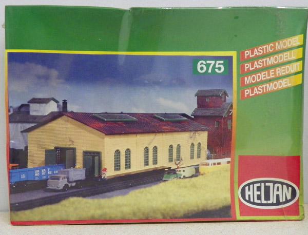 画像1: 鉄道模型 ヘルヤン HELJAN 675 倉庫施設 組み立てキット Nゲージ