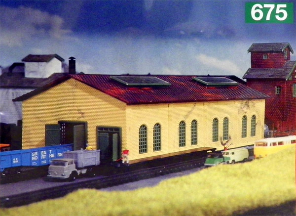 画像2: 鉄道模型 ヘルヤン HELJAN 675 倉庫施設 組み立てキット Nゲージ