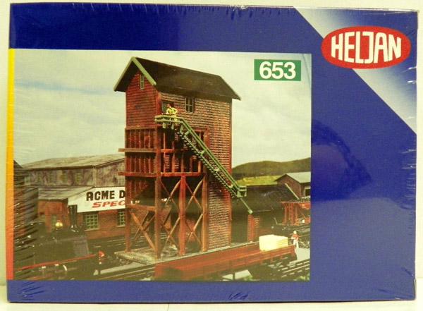 画像1: 鉄道模型 ヘルヤン HELJAN 653 木造石炭塔 組み立てキット Nゲージ