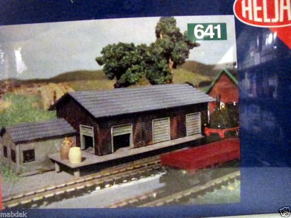 画像1: 鉄道模型 ヘルヤン HELJAN 641 小型貨物駅 組み立てキット Nゲージ