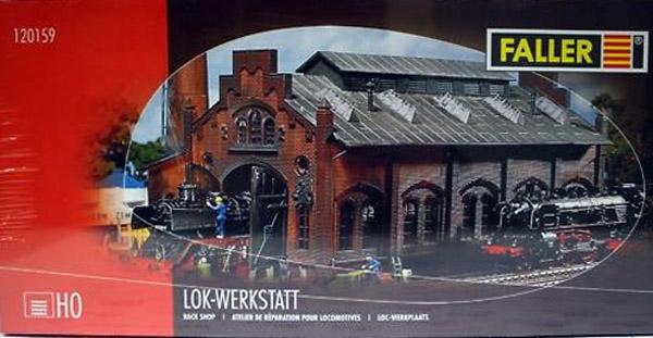 画像3: 鉄道模型 ファーラー Faller 120159 Locomotive shed/engine workshop 機関庫 HOゲージ