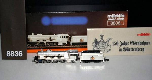 画像2: 鉄道模型 メルクリン Marklin 8836 ミニクラブ mini-club ヴュルテンベルク州立鉄道 蒸気機関車 銀メッキ Zゲージ