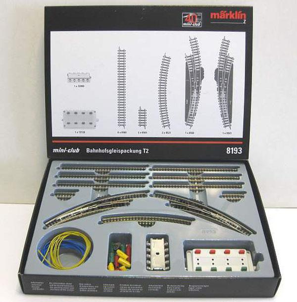 画像2: 鉄道模型 メルクリン Marklin 8193 拡張レールセット T2 線路 Zゲージ
