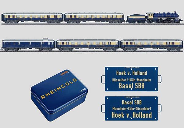 画像1: 鉄道模型 メルクリン Marklin 26750 ラインゴールド 6両セット(75周年記念限定品)HOゲージ