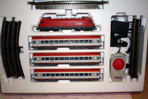 画像3: 鉄道模型 PIKO ピコ 96947 OBB 3 EC-Wagen スターターセット H0ゲージ