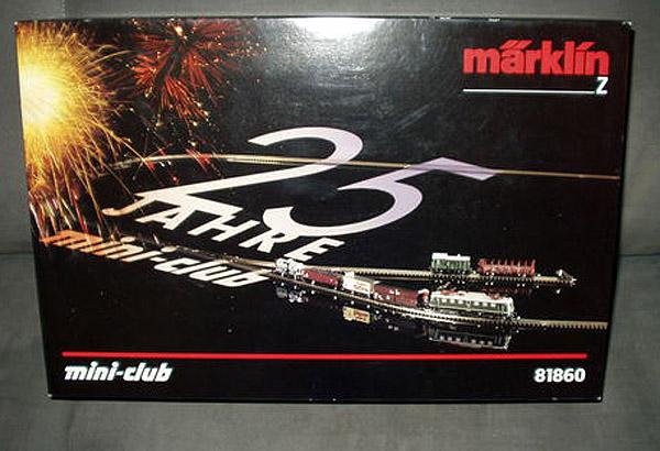 画像1: 鉄道模型 メルクリン Marklin 81860 ミニクラブ mini-club 25周年記念 スターターセット Zゲージ