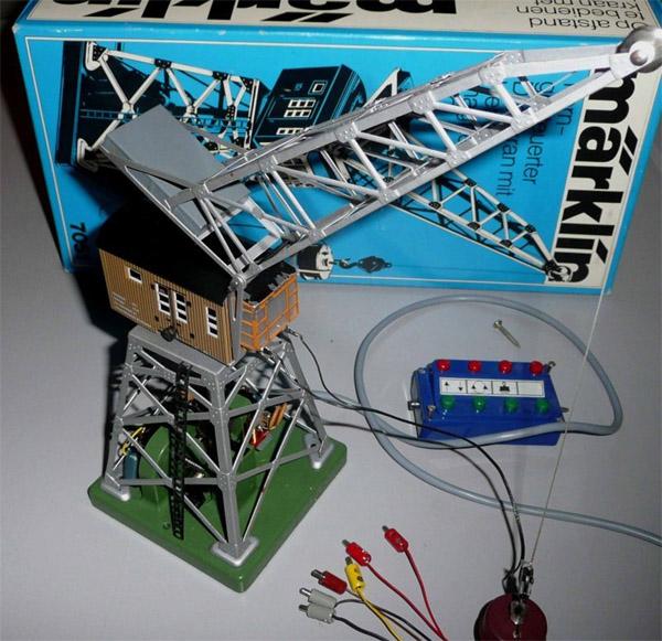 画像1: 鉄道模型 メルクリン Marklin 7051 リモコン式旋回クレーン HOゲージ ストラクチャー
