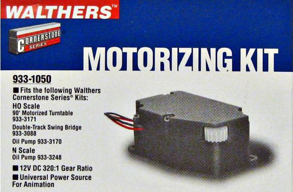 画像1: 鉄道模型 ウォルサーズ Walthers 1050 ターンテーブルモータリゼーションキット HOゲージ