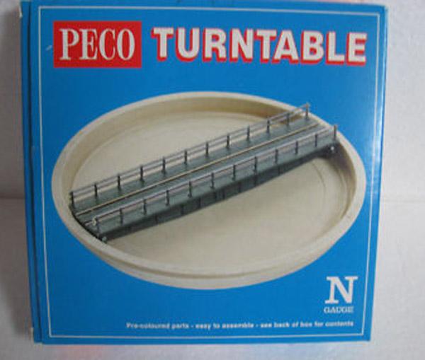 画像1: 鉄道模型 ピーコ PECO NB-55 手動ターンテーブル 転車台 Nゲージ