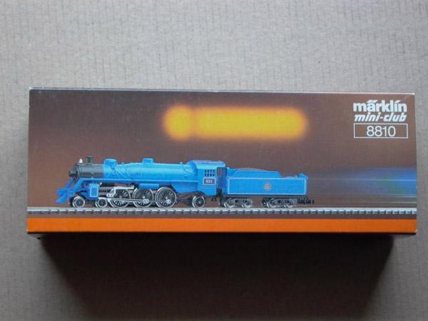 画像1: 鉄道模型 メルクリン Marklin 8810 ミニクラブ mini-club ブルーコメット 蒸気機関車 Zゲージ