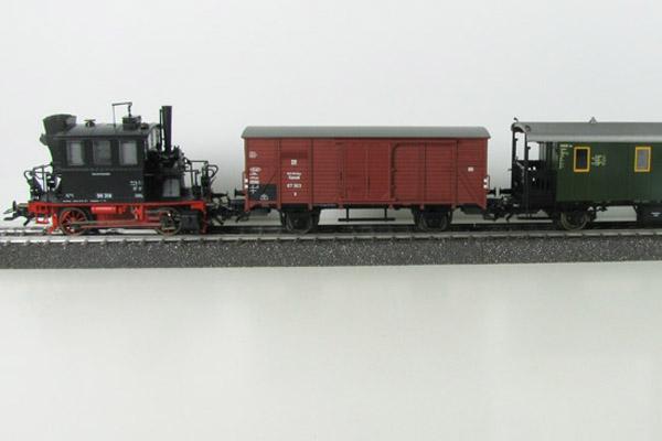 画像2: 鉄道模型 メルクリン Marklin 26559 Glaskasten/グラスカステン DB BR98.3 蒸気機関車+貨車1両+客車2両 列車セット HOゲージ