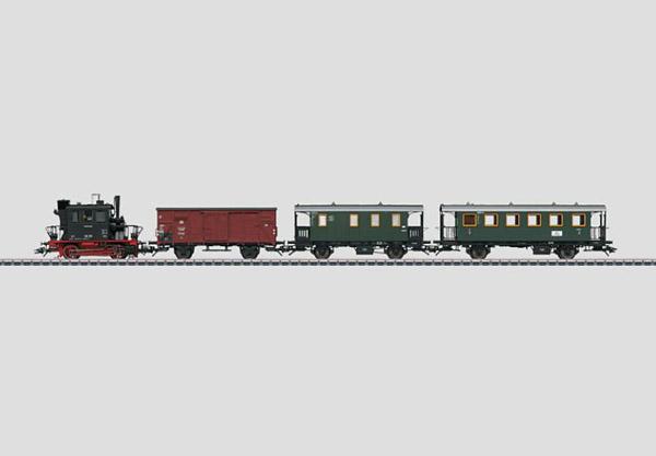 画像1: 鉄道模型 メルクリン Marklin 26559 Glaskasten/グラスカステン DB BR98.3 蒸気機関車+貨車1両+客車2両 列車セット HOゲージ