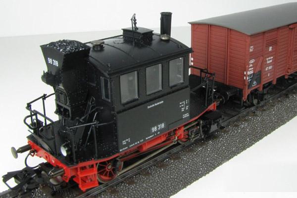 画像3: 鉄道模型 メルクリン Marklin 26559 Glaskasten/グラスカステン DB BR98.3 蒸気機関車+貨車1両+客車2両 列車セット HOゲージ