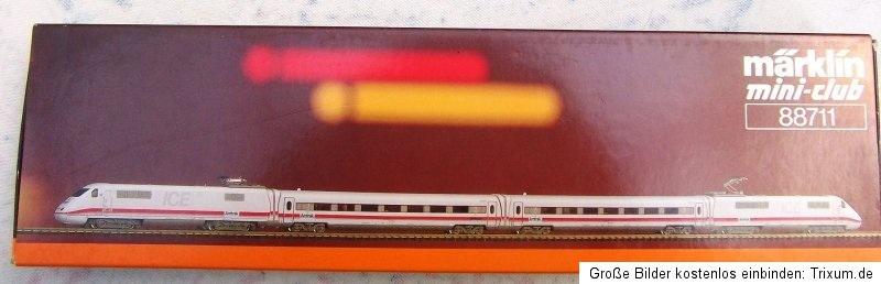"""画像1: 鉄道模型 メルクリン Marklin 88711 ミニクラブ mini-club  US ICE """" AMTRAK """"  アムトラック Zゲージ"""
