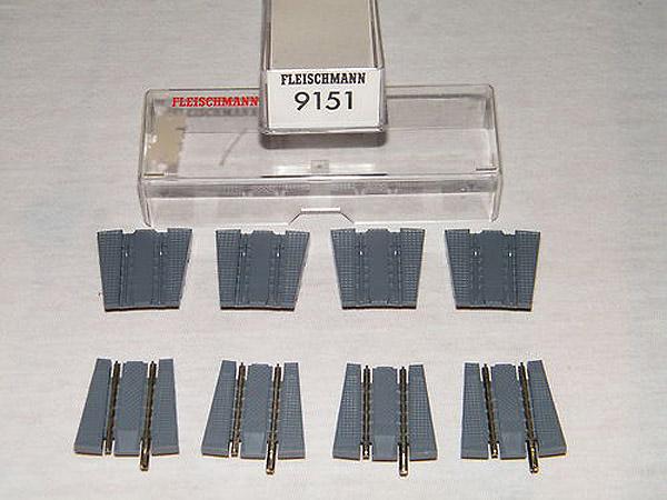 画像1: 鉄道模型 フライシュマン Fleischmann 9151 ターンテーブル 転車台 拡張用 アプローチ線路セット Nゲージ