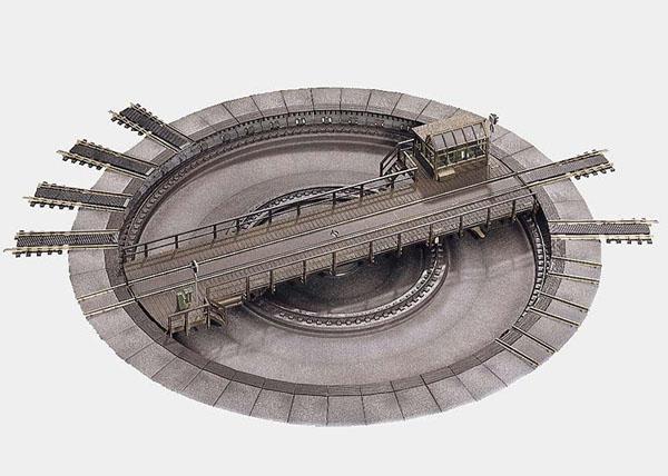 画像1: 鉄道模型 メルクリン Marklin 7286 電動ターンテーブル 転車台 HOゲージ
