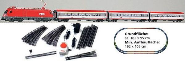 画像1: 鉄道模型 PIKO ピコ 96947 OBB 3 EC-Wagen スターターセット H0ゲージ