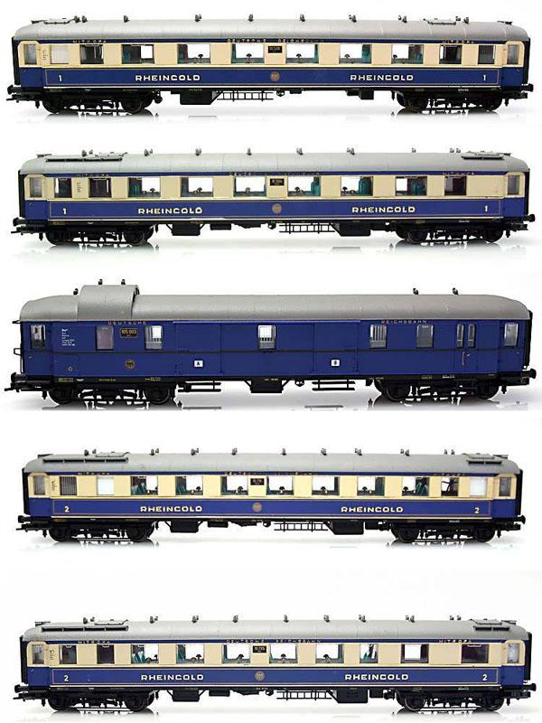 画像1: 鉄道模型 リリプット Liliput Bachmann L382003 バックマン ラインゴールド客車5両セット HOゲージ