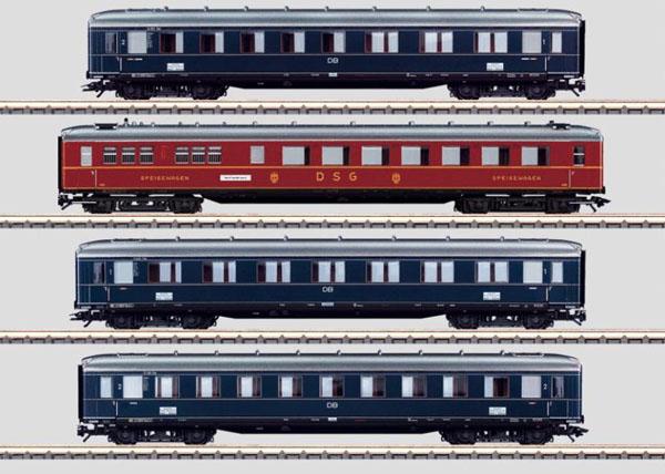 画像1: 鉄道模型 メルクリン Marklin 43237 ラインゴールド 客車4両セット HOゲージ