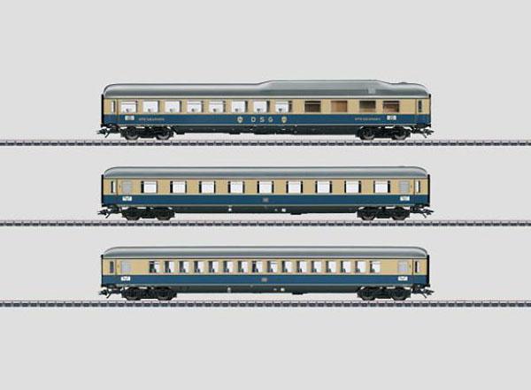 画像1: 鉄道模型 メルクリン Marklin 43873 ラインゴールド 客車セット2 HOゲージ