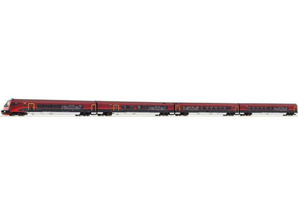 画像1: 鉄道模型 ロコ Roco 64022 -  RAILJET レイルジェット 客車4両セット HOゲージ