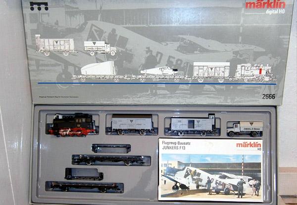 画像1: 鉄道模型 メルクリン Marklin 2666 ドイツ航空機 ユンカースF13 飛行機列車セット HOゲージ