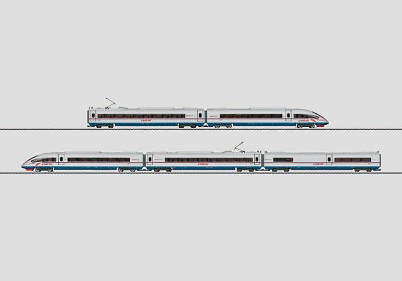 画像1: 鉄道模型 メルクリン Marklin 37787 RZD ロシア高速列車 5両セット 電車 HOゲージ