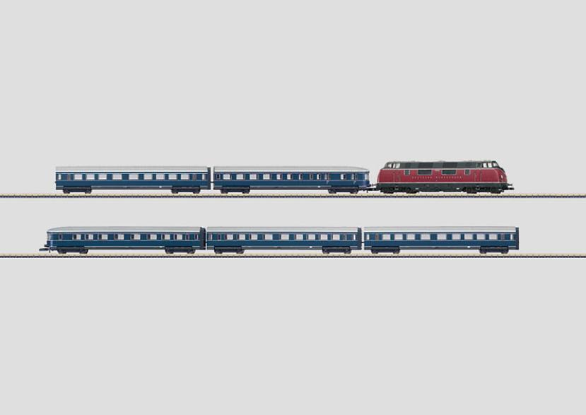 画像1: 鉄道模型 メルクリン Marklin 81176 DB V200 ブルーエンツェアン編成 列車セット Zゲージ