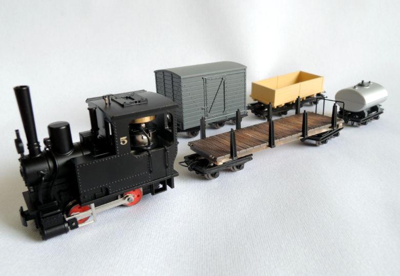 画像1: 鉄道模型 ミニトレインズ MINITRAINS 5081 クラウス No.5 SL トレインセット ナローゲージ HOn30(9mm)