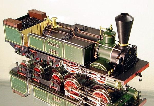 """画像1: 鉄道模型 フルグレックス Fulgurex 22311 Swiss SCB Ec2/5 no.28 """"Genf"""" 蒸気機関車 HOゲージ"""