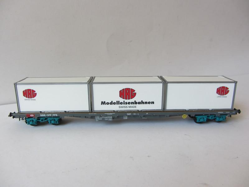 画像4: 鉄道模型 ハグ HAG 097 Re 6/6 電気機関車 コンテナ貨物セット 50周年限定品 HOゲージ