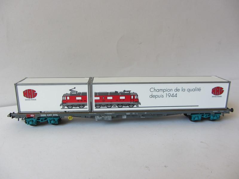 画像5: 鉄道模型 ハグ HAG 097 Re 6/6 電気機関車 コンテナ貨物セット 50周年限定品 HOゲージ