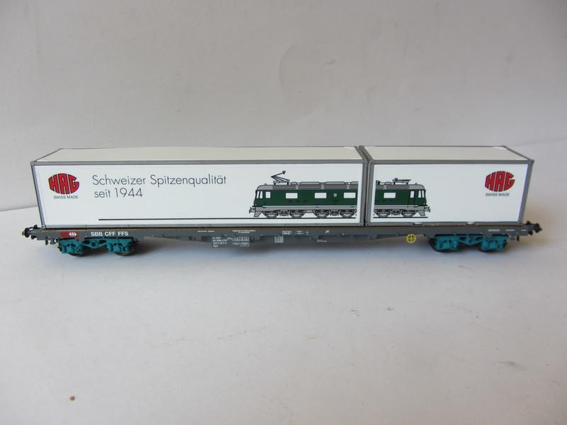 画像3: 鉄道模型 ハグ HAG 097 Re 6/6 電気機関車 コンテナ貨物セット 50周年限定品 HOゲージ