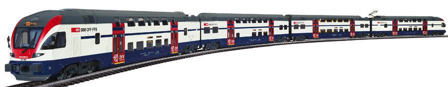 画像1: 鉄道模型 リリプット Liliput L133920 SBB-ZVV ダブルデッカー 電車 HOゲージ