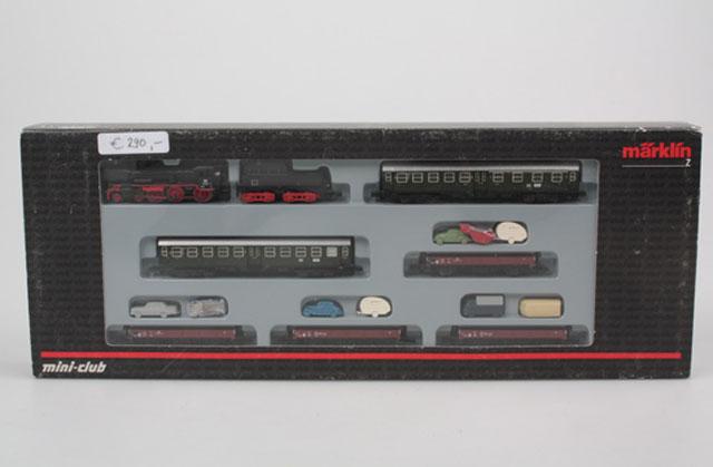 画像2: 鉄道模型 メルクリン Marklin 81428 ミニクラブ mini-club DB BR38 蒸気機関車 混合列車セット Zゲージ
