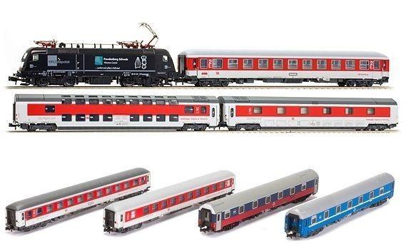 画像1: 鉄道模型 ホビートレイン Hobbytrain 22055+22056 シティナイトライン CNL 寝台列車セット Nゲージ