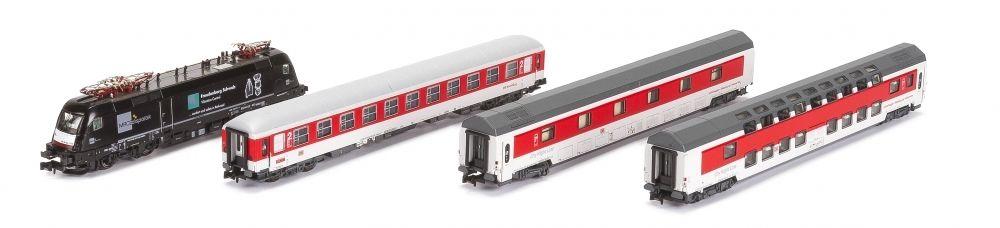 画像1: 鉄道模型 ホビートレイン HobbyTrain LEMKE 22055 CNL 473 Aurora 寝台列車セット Nゲージ