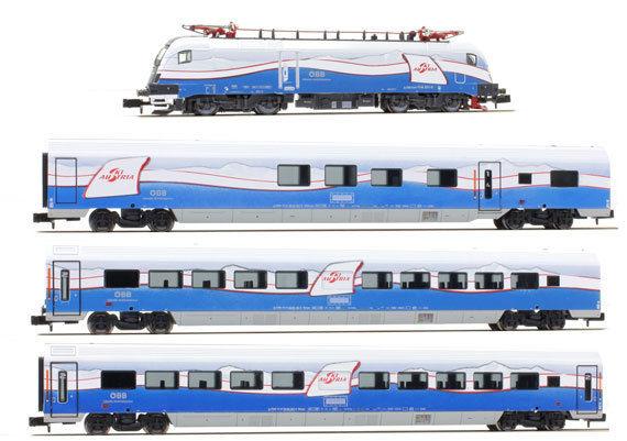 画像1: 鉄道模型 ホビートレイン HobbyTrain H25215 Railjet レイルジェット 機関車+客車3両セット Nゲージ
