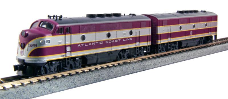 画像1: 鉄道模型 カトー KATO 106-0201 F2A F2B アトランティック・コースト・ライン 2両セット ディーゼル機関車 Nゲージ